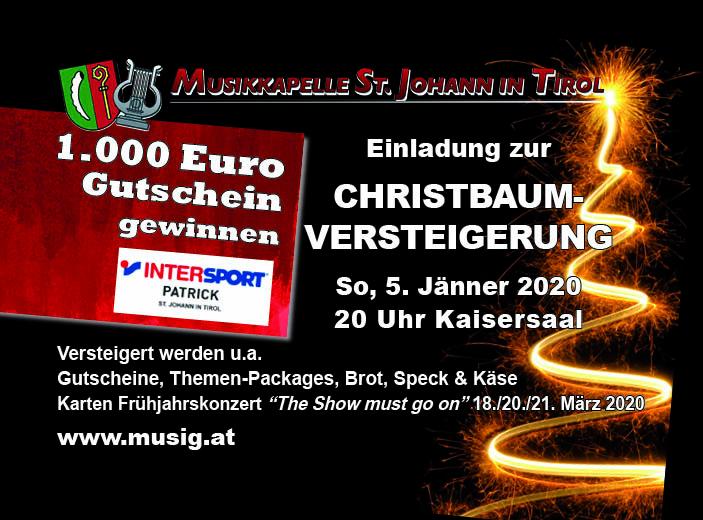 Christbaumversteigerung 2020