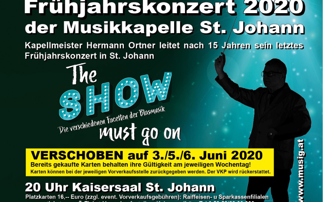 "Frühjahrskonzert 2020 ""The SHOW must go on"""